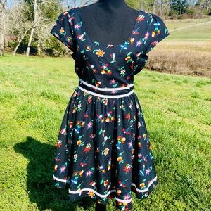 Lulus Lucca Couture Retro Floral Print Dress 4